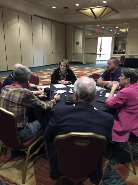 Susan Eisen leading discussion 10/2017 ()